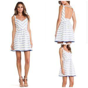 NWT! Line & Dot Stripe Open Back Dress